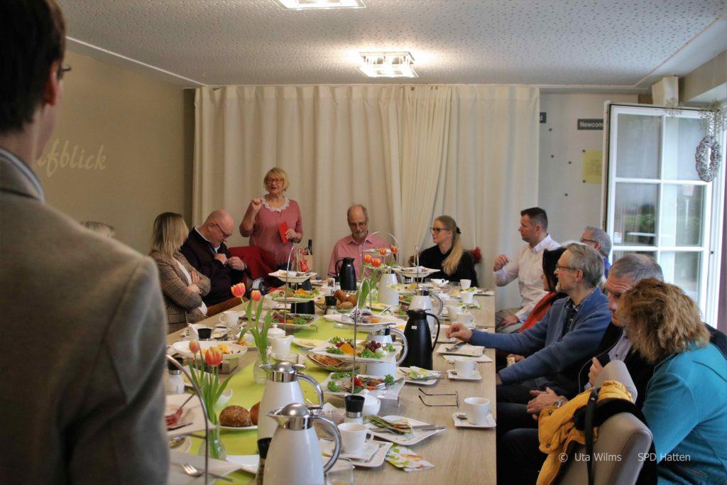 Margot Siemers motiviert zur aktiven Mitarbeit in der SPD