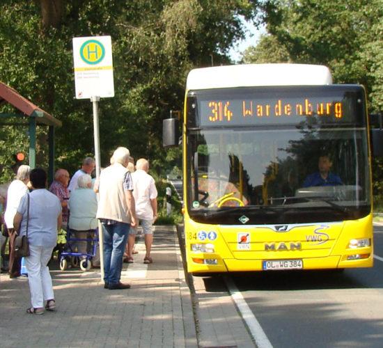 Bushaltestelle in Wardenburg
